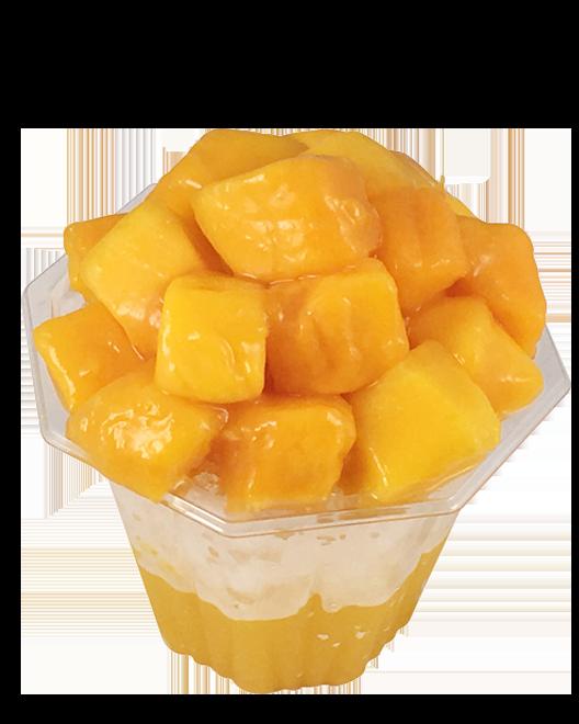 マンゴー果実かき氷